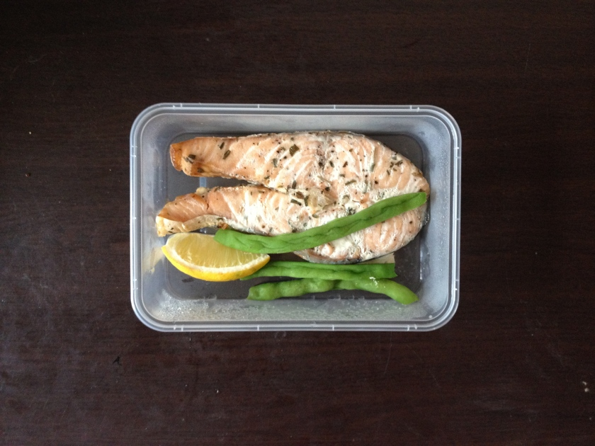 Baked Salmon Parcel with Brown Rice